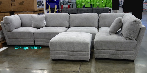 lenora 6 pc fabric modular sectional