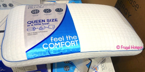 purelux memory foam simply cool pillow