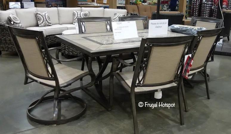 agio eldorado 7 piece sling dining set