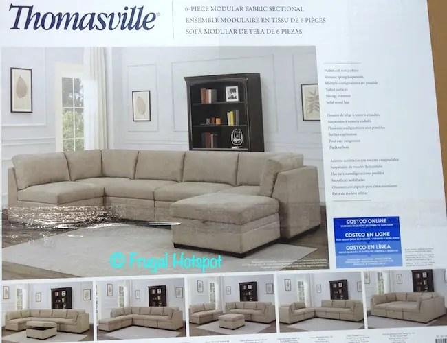 thomasville modular fabric sectional