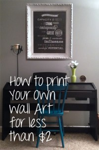 How I Printed My Own Wall Art for less than $2! - Frugal ...