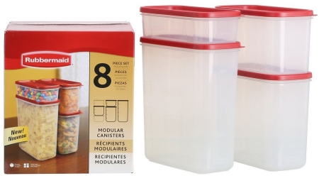 rubbermaid kitchen storage containers fixtures lowes dry food container 8 piece set chili for 15 97