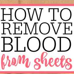 How To Remove Blood Stains From Linen Sofa Barcalounger Sheets Frugally Blonde