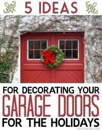 Xmas Garage Door Decoration