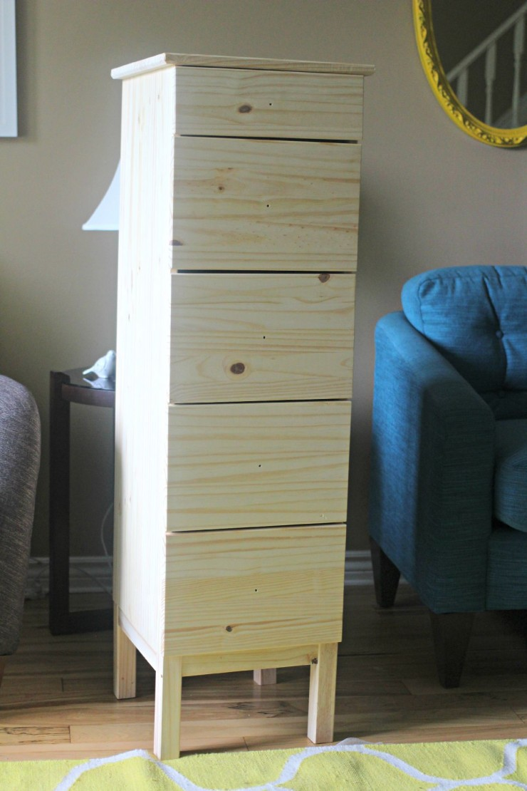 Ikea Tarva Dresser Makeover with Fabric Lined Drawers