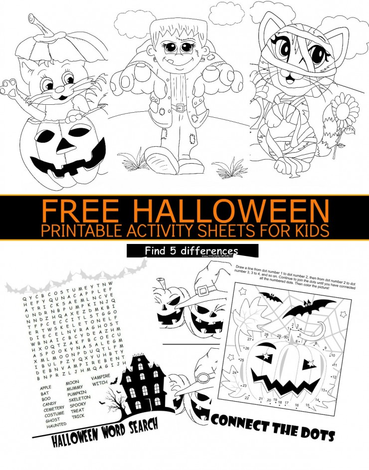 Free Halloween Printable Activity Sheets For Kids Frugal Mom Eh