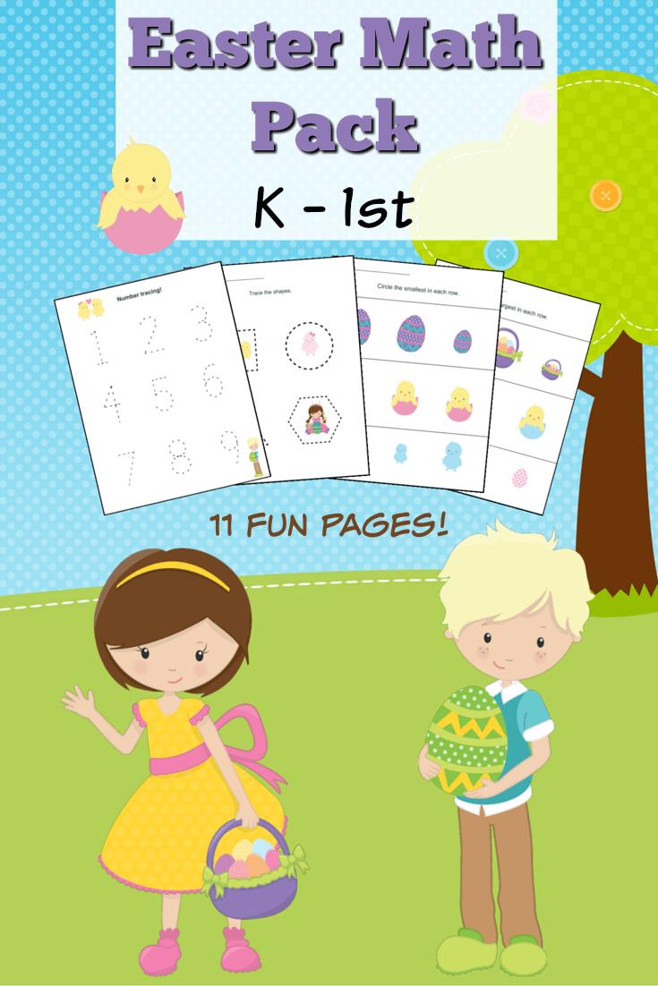 medium resolution of Easter Themed Kindergarten Math Worksheets - Frugal Mom Eh!