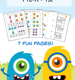 Monster Math Pack for Pre-K to 1st Grade - Frugal Mom Eh! [ 1102 x 735 Pixel ]