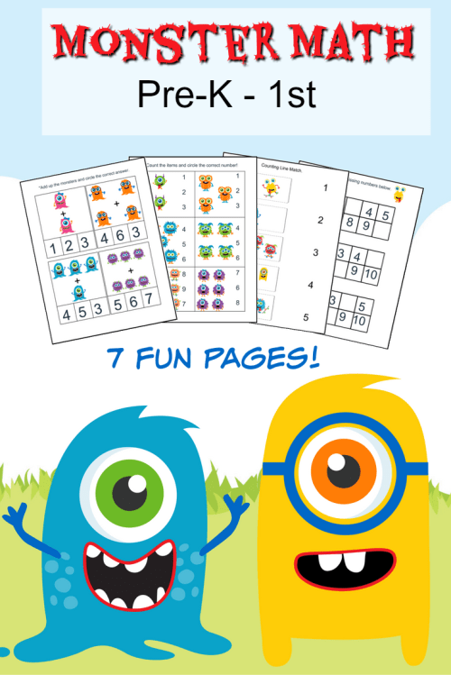 small resolution of Monster Math Pack for Pre-K to 1st Grade - Frugal Mom Eh!
