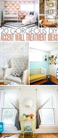 20 Gorgeous DIY Accent Wall Treatment Ideas - Frugal Mom Eh!