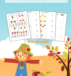 Fall Math Worksheets for Pre-K to 1st Grade - Frugal Mom Eh! [ 1102 x 735 Pixel ]