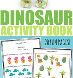 Free Printable Dinosaur Activity Book - Frugal Mom Eh! [ 1754 x 740 Pixel ]