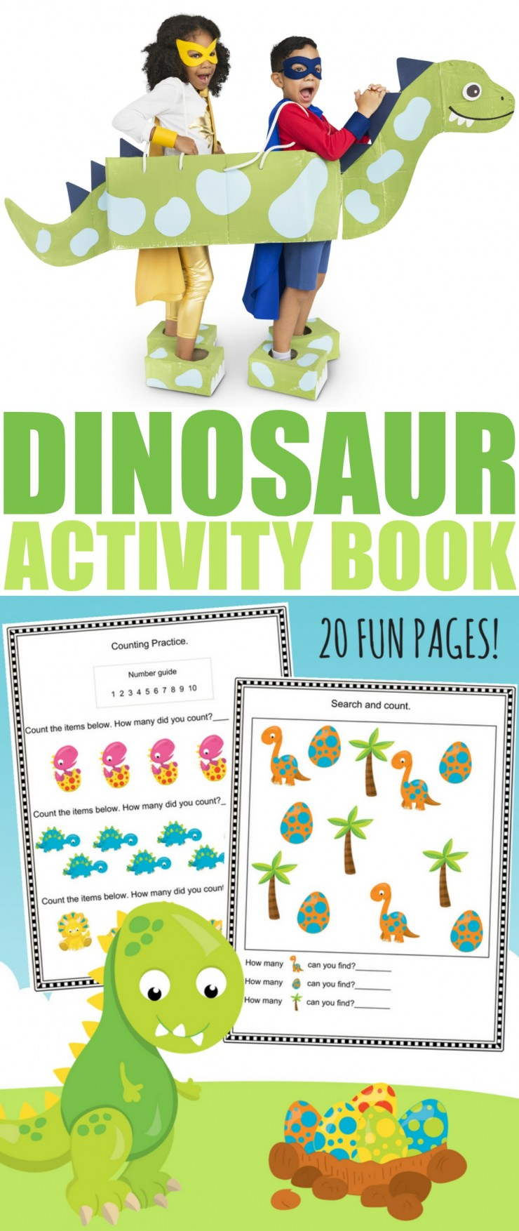 hight resolution of Free Printable Dinosaur Activity Book - Frugal Mom Eh!