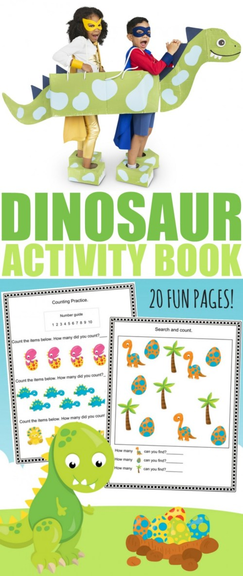 small resolution of Free Printable Dinosaur Activity Book - Frugal Mom Eh!