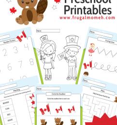 Free Printable Canada Day Preschool Activity Book - Frugal Mom Eh! [ 1102 x 735 Pixel ]