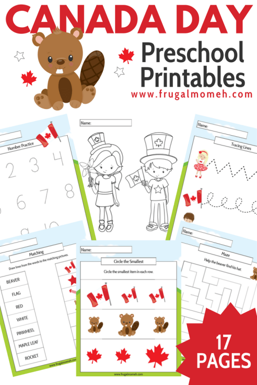 small resolution of Free Printable Canada Day Preschool Activity Book - Frugal Mom Eh!