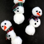 Pom Pom Snowmen Magnets Frugal Mom Eh