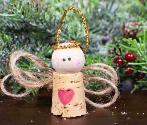 wine cork christmas craft for kids