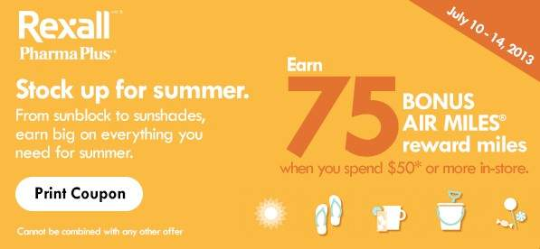 rexall-bonus-airmiles-offer-july-coupon
