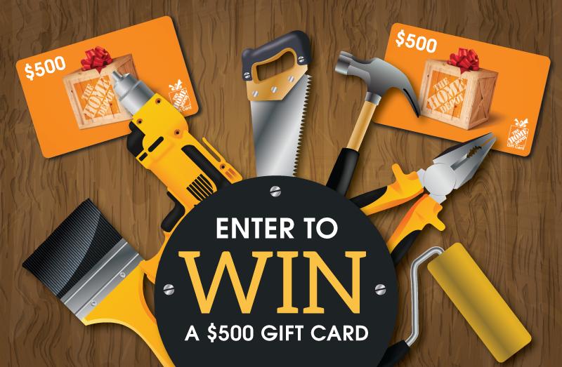 Win home depot gift card