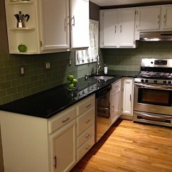 Repaint Kitchen Cabinets Backsplash Glass Tiles How To Refinish Part 1 Frugalwoods Joyous After