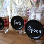 Easy Mason Jar Utensil Holders