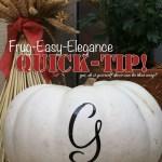 Quick Fall Decor Tip: Easy Monogram Pumpkins
