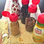 Easy Pantry Organizing: Coffee Creamer Containers Reused into Storage Containers