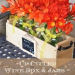 Spring Decor From Up Cycled Wine Box & Jars