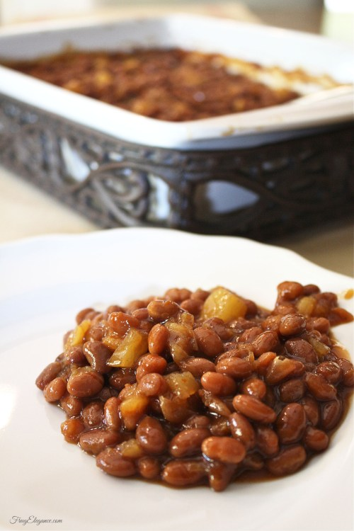 Easy One Pan Baked Beans | www.frugelegance.com