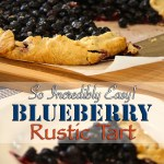 Rustic Summer Blueberry Tart
