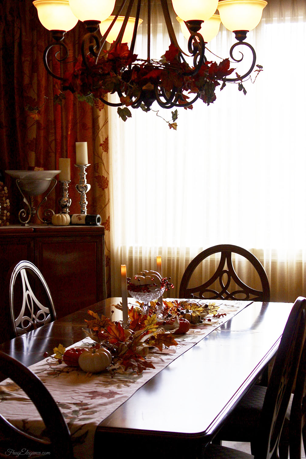 Easy Fall Table Centerpiece Frugelegance
