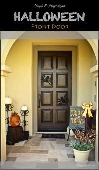 Easy Halloween Front Door Decor - FrugElegance