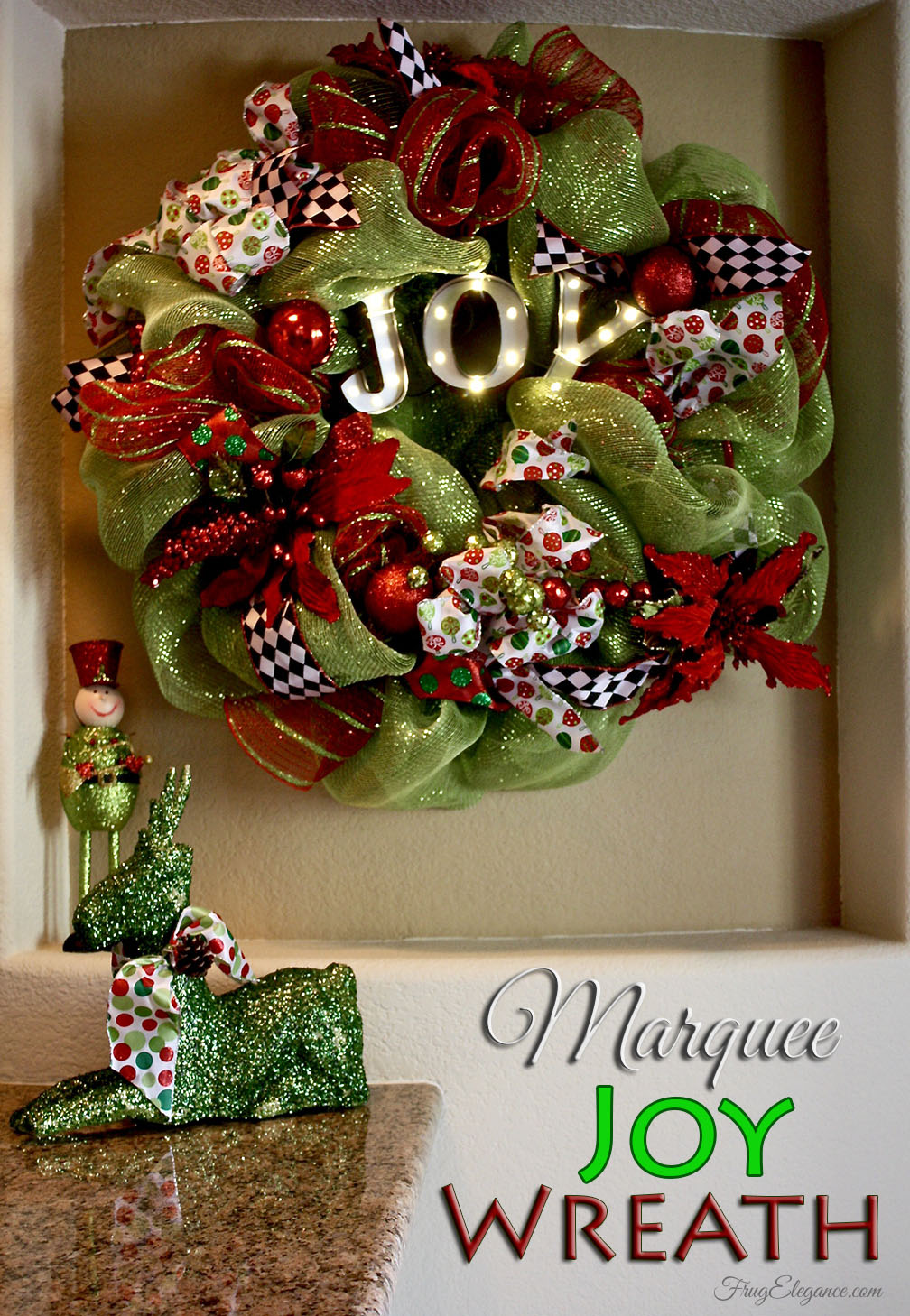 living room realtors sample paint colors a christmas joy marquee wreath - frugelegance