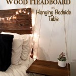 Rustic & Elegant Headboard with Floating Side Table
