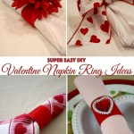 Super Easy Valentine Napkin Ring Ideas