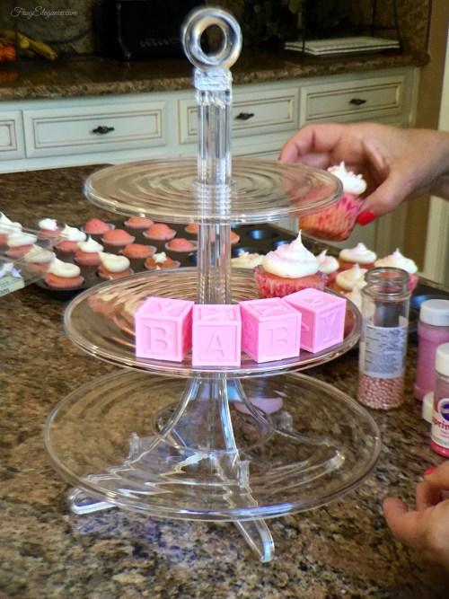 Baby Shower Cupcake Tower   FrugElegance   www.frugelegance.com