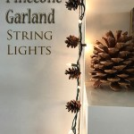 Pinecone String Light Garland