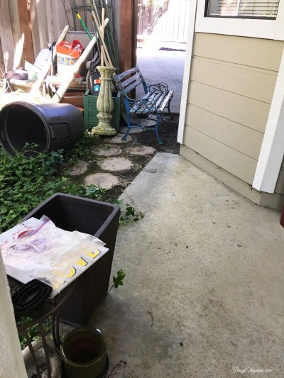 A Simple and Easy Front Porch Clean Up by FrugElegance.com