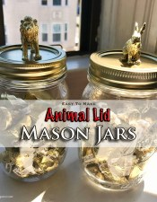 Animal Lid Mason Jars