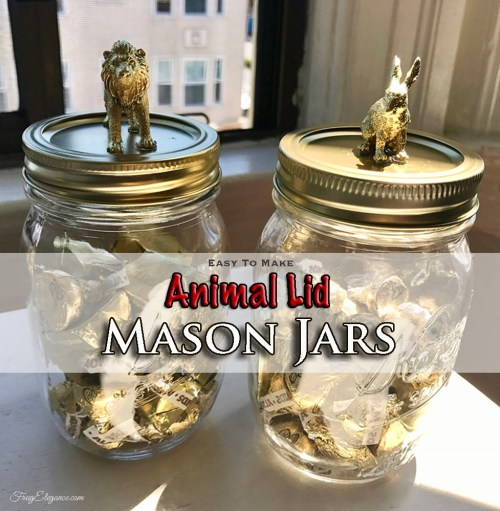 Animal Lid Mason Jars by FrugElegance.com