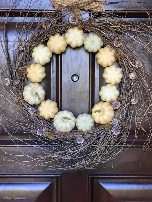 Quick and Easy Fall Wreath | FrugElegance | www.frugelegance.com