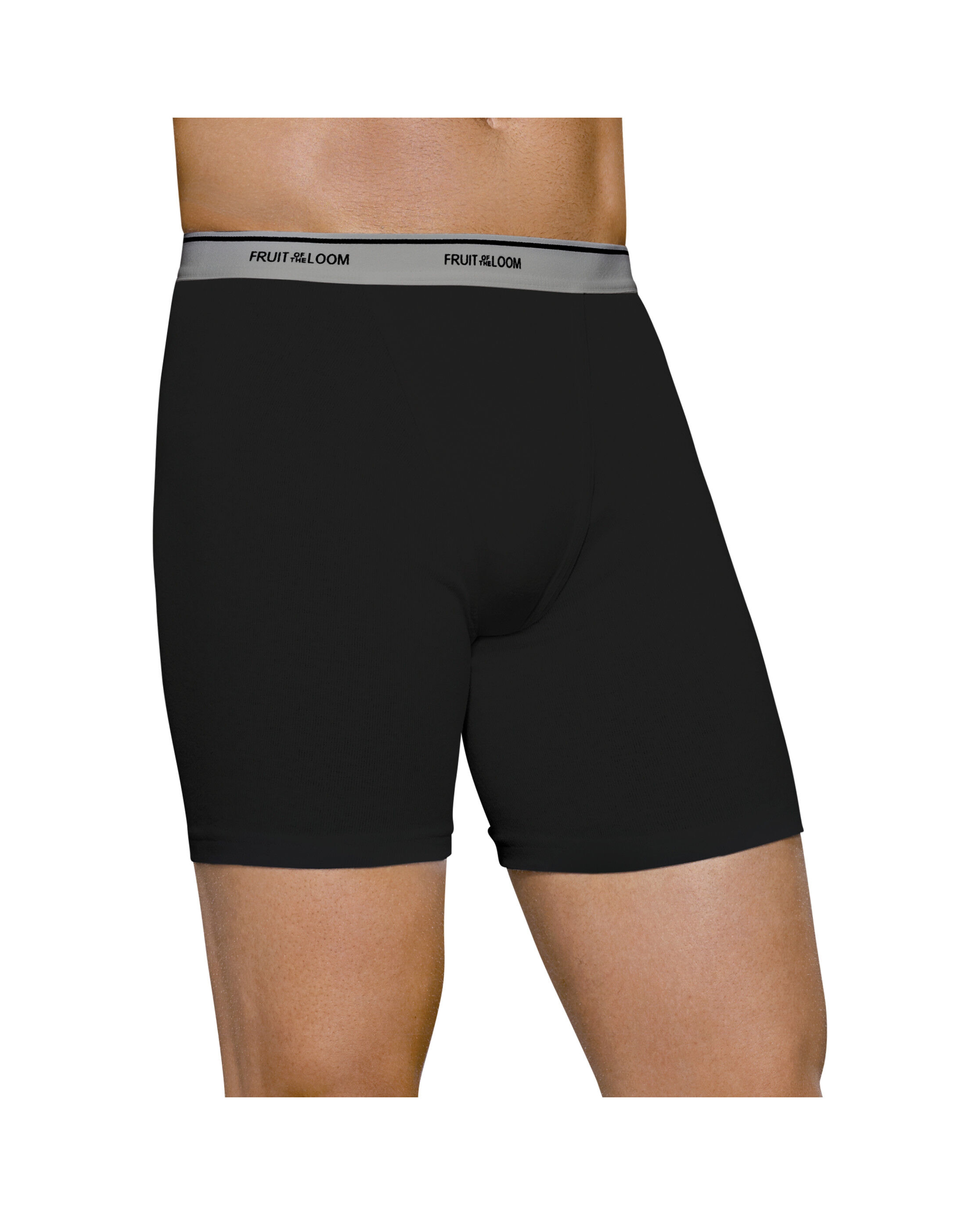 Men' 4 Pack Fashion Print Solid Boxer Briefs Extended