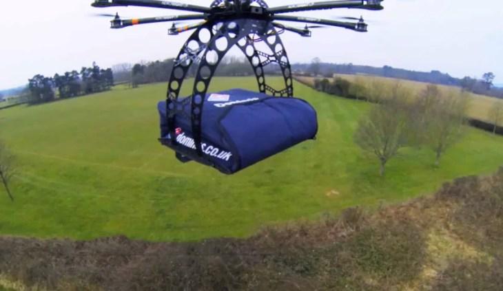 Il drone di Domino's Pizza attualmente in sperimentazione in Nuova Zelanda