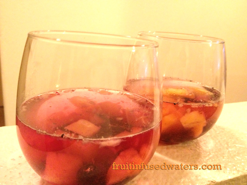 Sweet and Energizing Pineapple Blueberry Infused Water