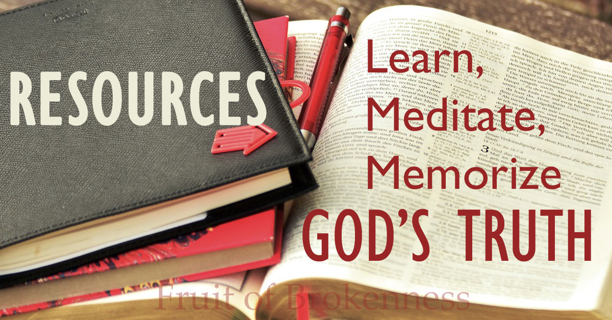 Bible Study Resources - Learn, Meditate, Memorize