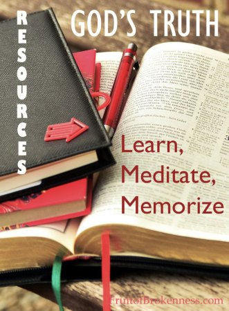 Bible Study Resources: Learn, Meditate, Memorize God's Truth