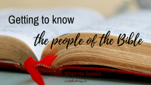 One important reason to read Scripture is getting to know the people of the Bible