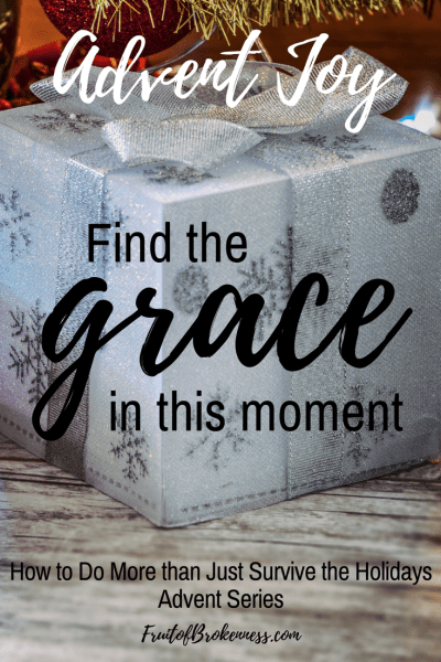 How do we do more than just survive the holidays when we're struggling with depression, anxiety, or grief? By living in this moment, and finding the grace right here right now.