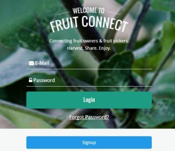 sign up to Fruit Connect